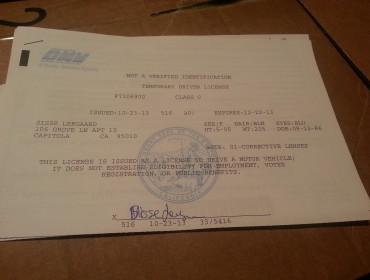Sådan ser den altså ud, det dejlige dokument, så vi nu kan køre lovligt :)