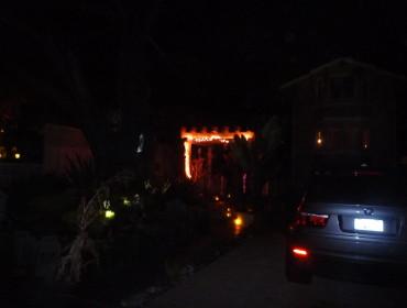 En rundttur i  Capitola, dog lidt svært at tage billeder i mørket:)