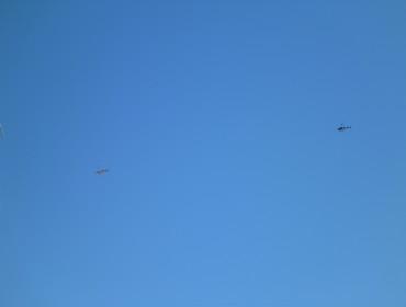 Med livestreaming hører helikopterer