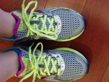 Ja jeg ved det er blege ben, men det er hurtige sko:)