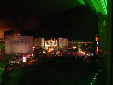 Udsigt fra værelset i Las Vegas.