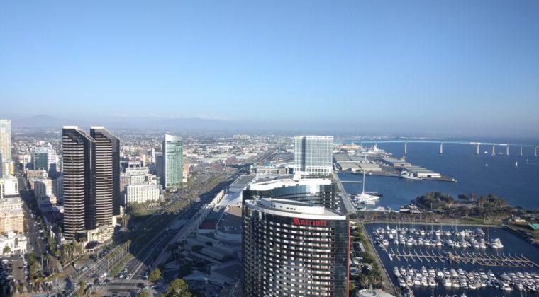 Udsigt fra hotellet i San Diego