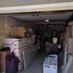 Så kom tingene i vores garage - altså dem fra rummet. Vi manger stadig containeren.