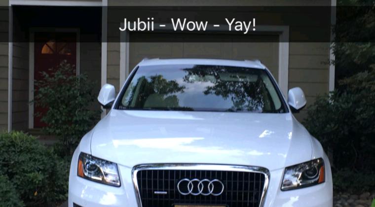 Så kom der også en bil i hus Audi Q5, 3.2 motor. Jow jow, i helt skinnende beskidt hvid.